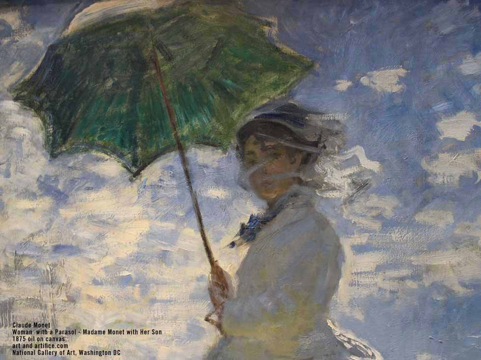 Woman with Parasol Detail