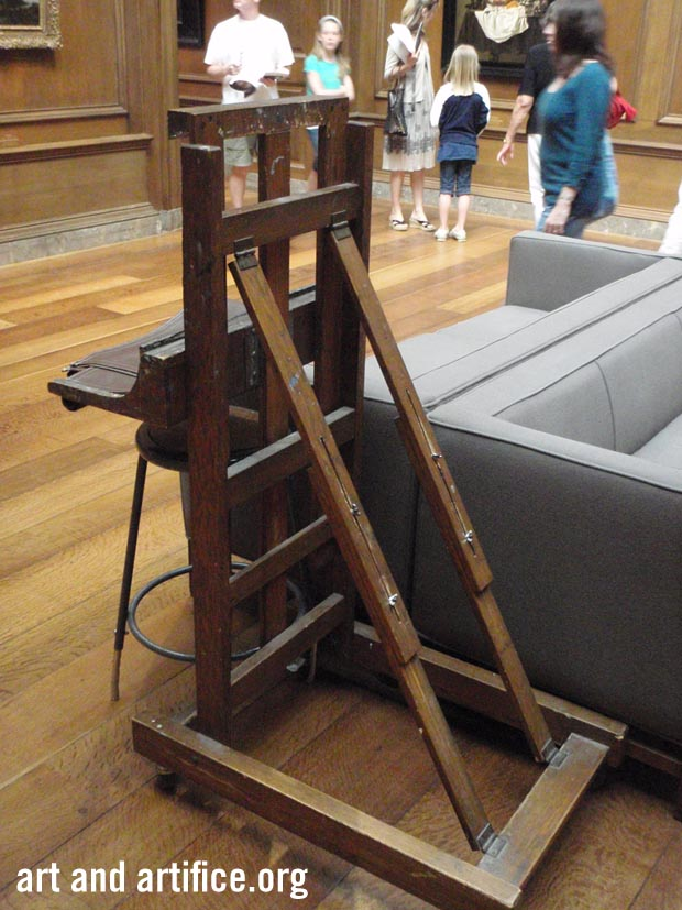 Art easel at the National Gallery of Art Washington DC