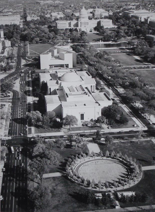 National Gallery of Art - Washington DC 1980 from the air