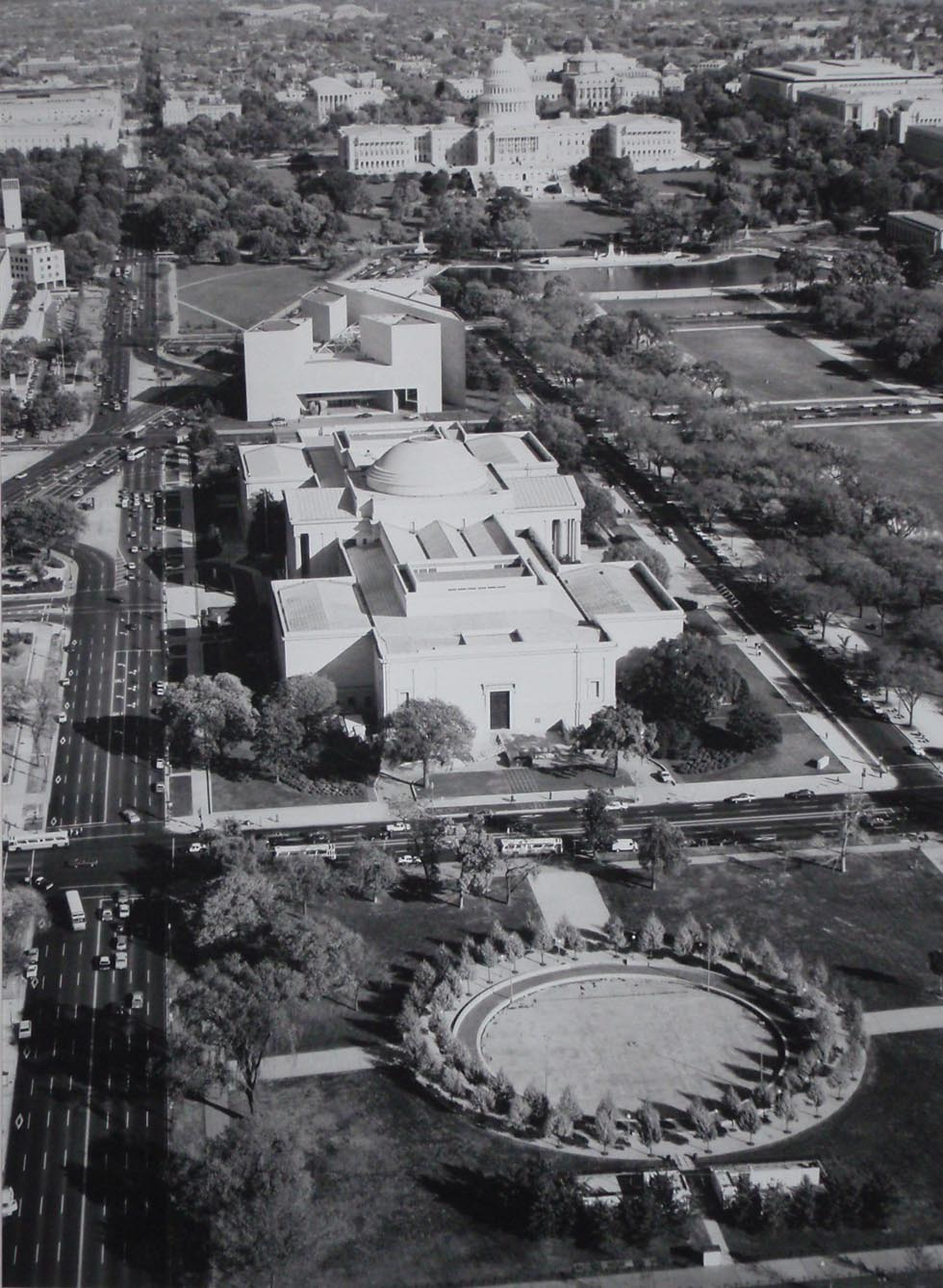 Enlarged - National Gallery of Art - Washington DC 1980 from the air