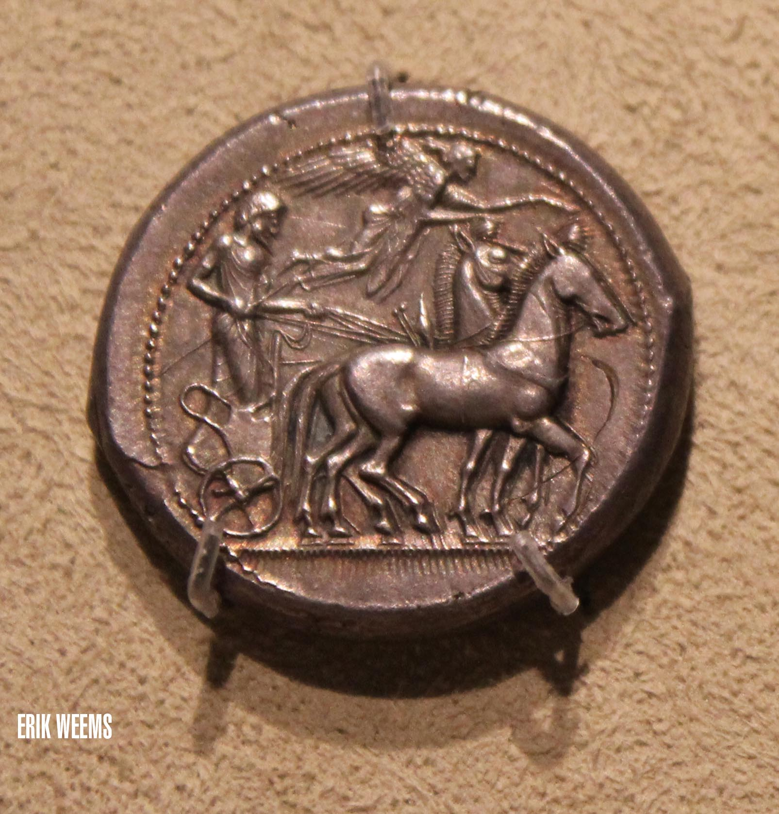 Enlarged - Ancient Greece Horse Coin