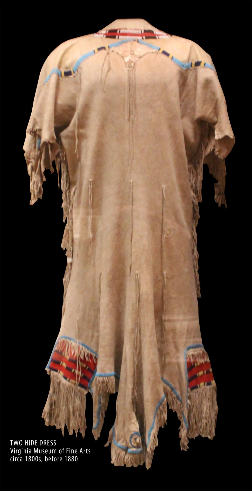 Enlarged - Two Hide Dress 1800s