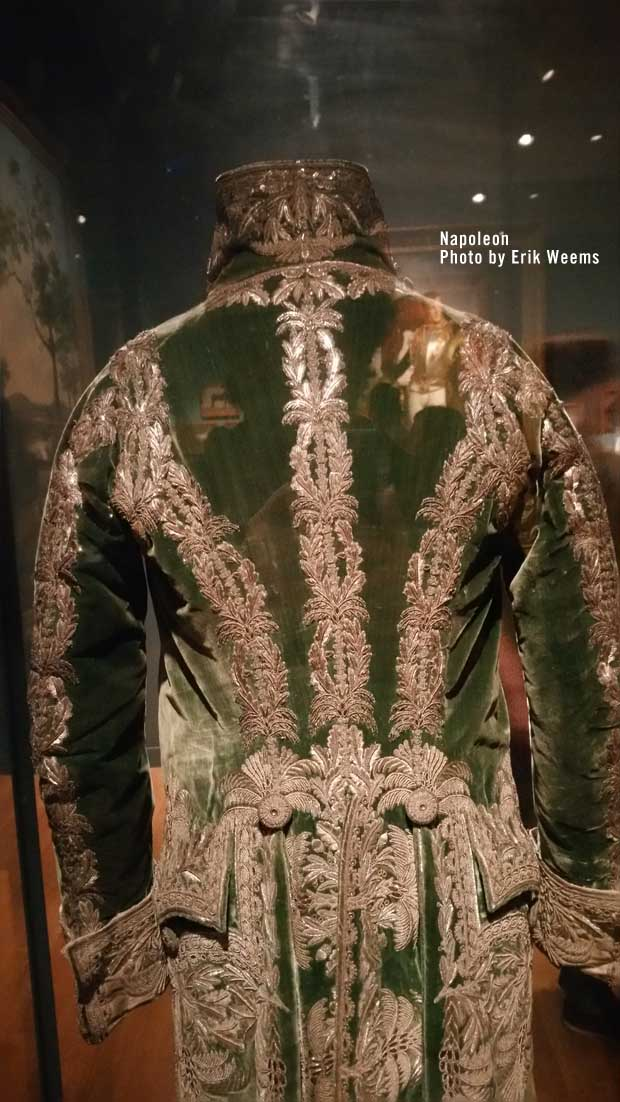 Napoleon Jacket Green with Gold - Back side