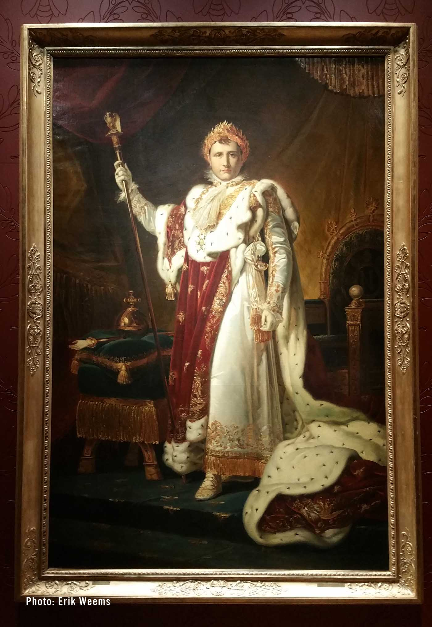 Large Size - Napoleon in his imperial robes - painting by Francois Gerald 1805