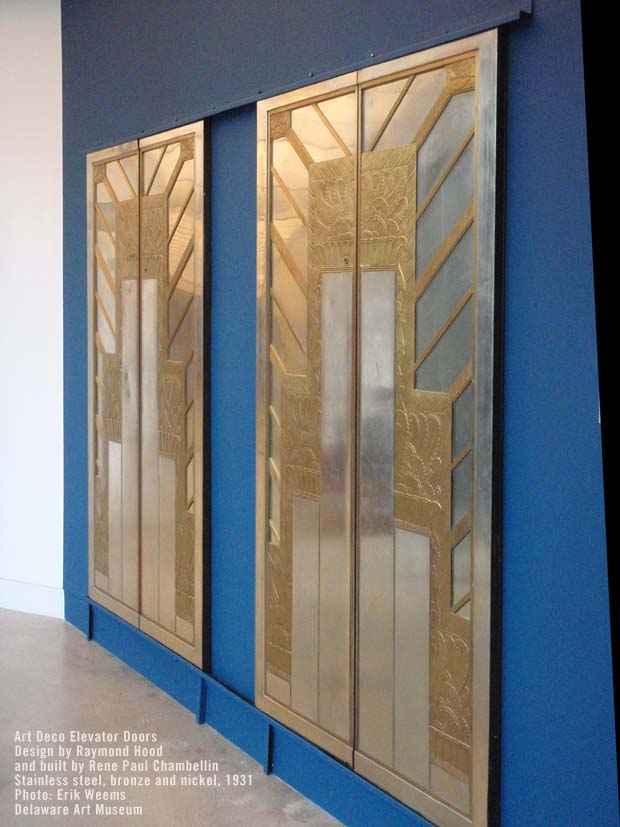 Art Deco Elevator - Design by Raymond Hood and built by Rene Paul Chambellin