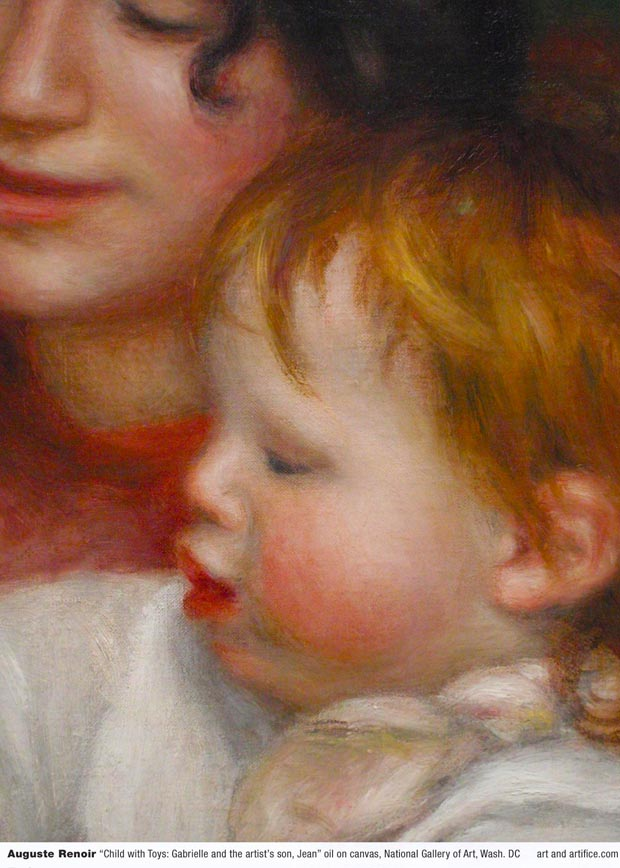 Auguste Renoir-Child with Toys - Detail 1